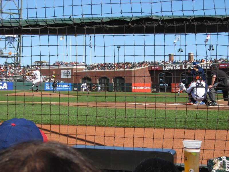 Seating view for AT&T Park Section DC119 Row CCC Seat 2