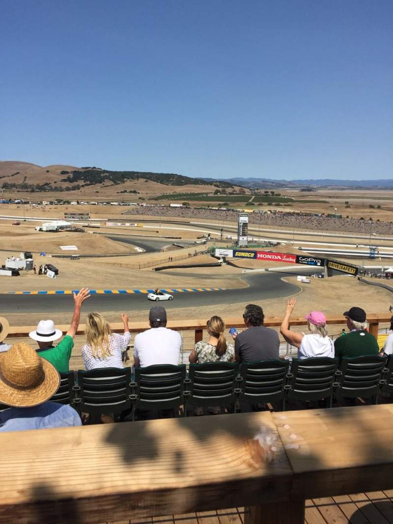 Seating view for Sonoma Raceway Section Turn 2 Row 1