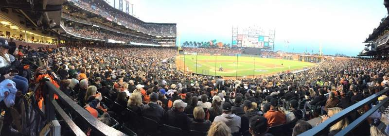 Seating view for AT&T Park Section 113 Row Last