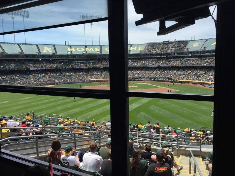 Seating view for Oakland Alameda Coliseum Section Suite Row Left Seat Field