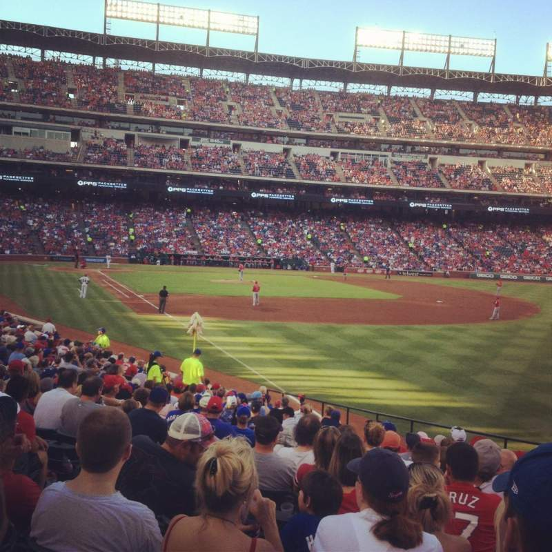 Seating view for Globe Life Park in Arlington Section 40