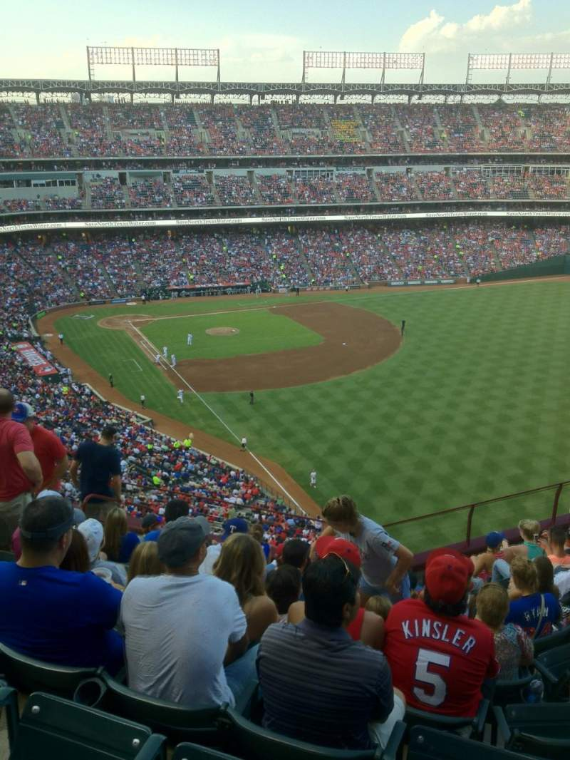 Seating view for Globe Life Park in Arlington Section 344