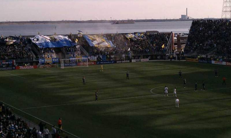 Seating view for Talen Energy Stadium Section Captain Row Morgan Seat Deck