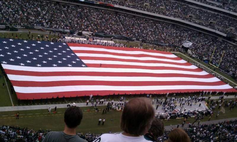 Seating view for Lincoln Financial Field Section 241 Row 9 Seat 14