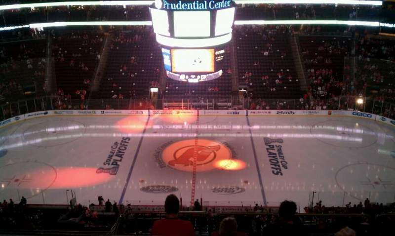 Seating view for Prudential Center Section 212 Row 3 Seat 7