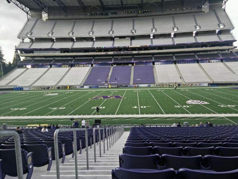 Seating view for Husky Stadium Section 128 Row 27 Seat 27