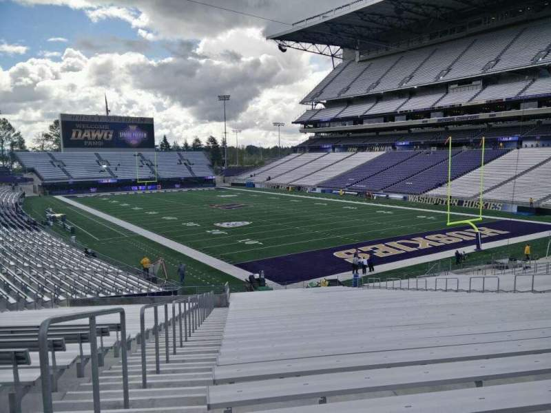 Seating view for Husky Stadium Section 121 Row 37 Seat 25