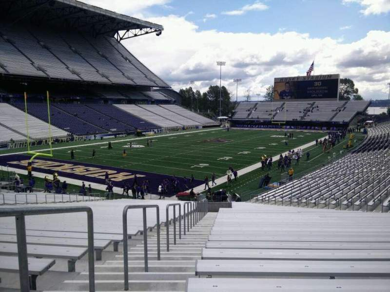 Seating view for Husky Stadium Section 114 Row 35 Seat 35