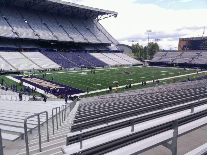 Seating view for Husky Stadium Section 111 Row 40 Seat 55