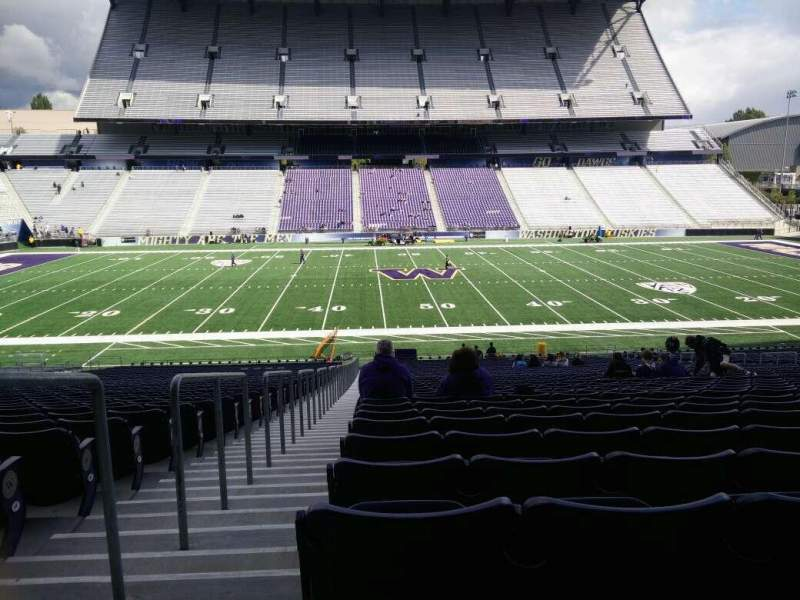 Seating view for Husky Stadium Section 106 Row 40 Seat 25