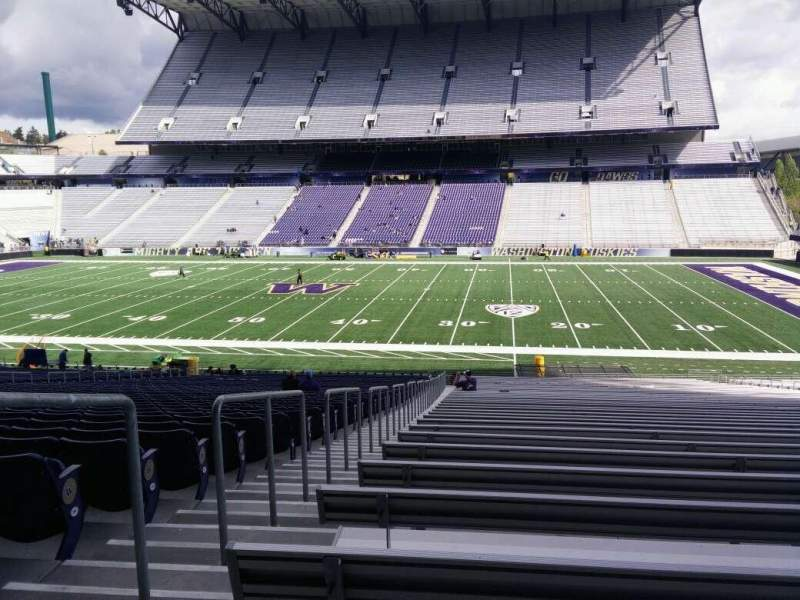 Seating view for Husky Stadium Section 104 Row 40 Seat 25