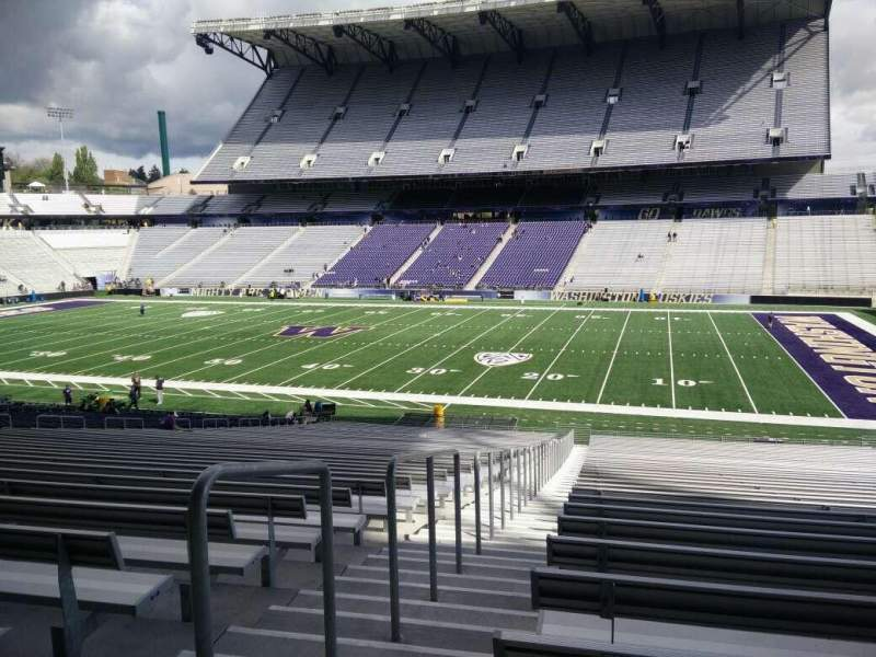 Seating view for Husky Stadium Section 103 Row 40 Seat 25
