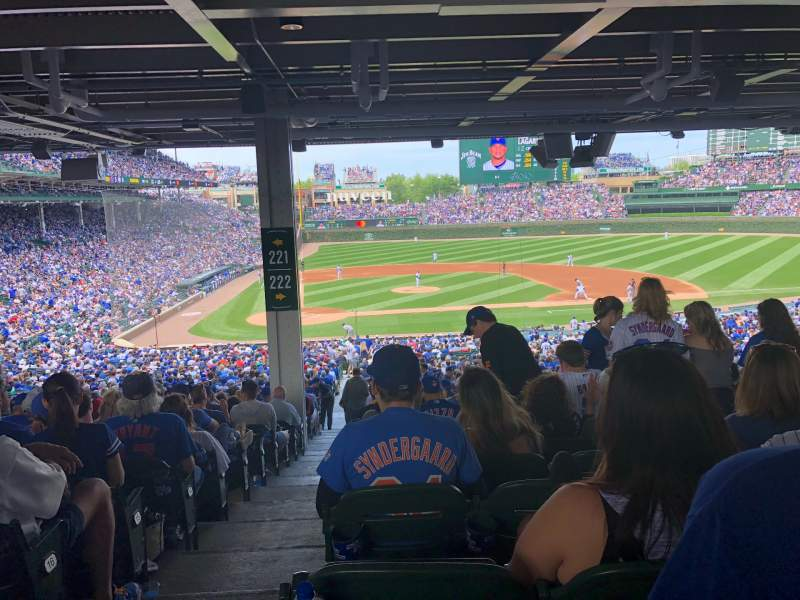 Seating view for Wrigley Field Section 222 Row 19 Seat 1