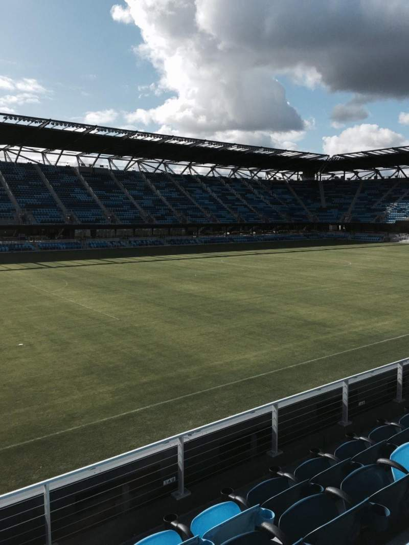 Seating view for Avaya Stadium Section 101 Row 4 Seat 17