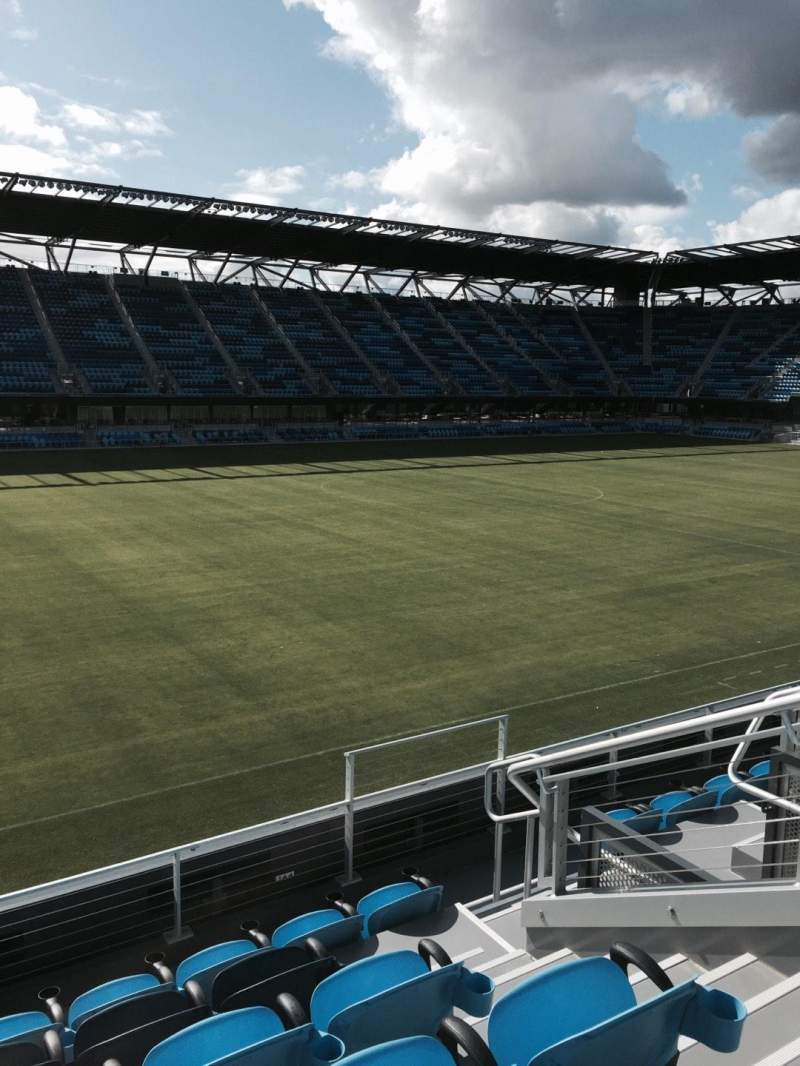 Seating view for Avaya Stadium Section 102 Row 6 Seat 7