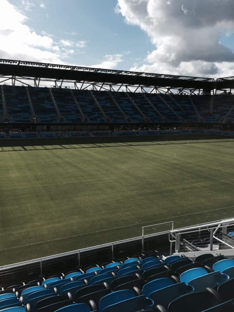 Seating view for Avaya Stadium Section 103 Row 9 Seat 10