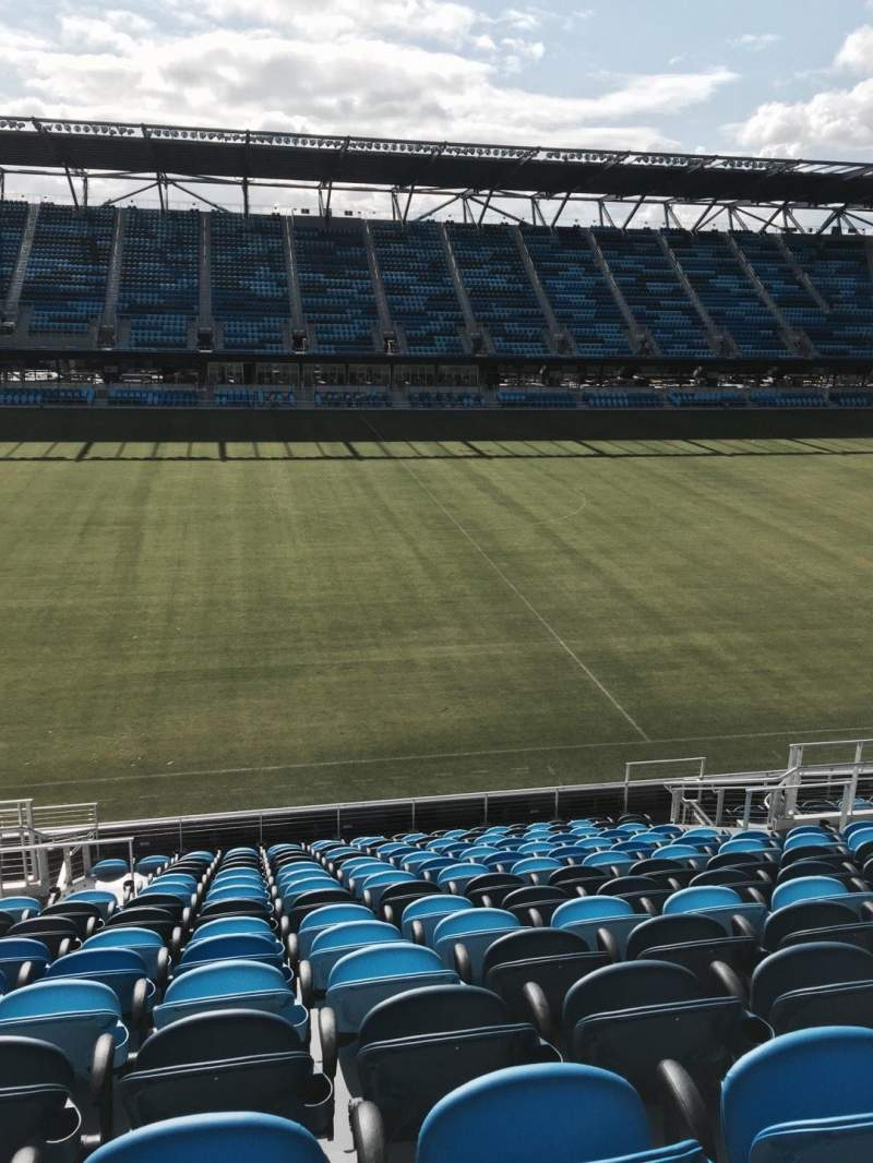 Seating view for Avaya Stadium Section 105 Row 16 Seat 11