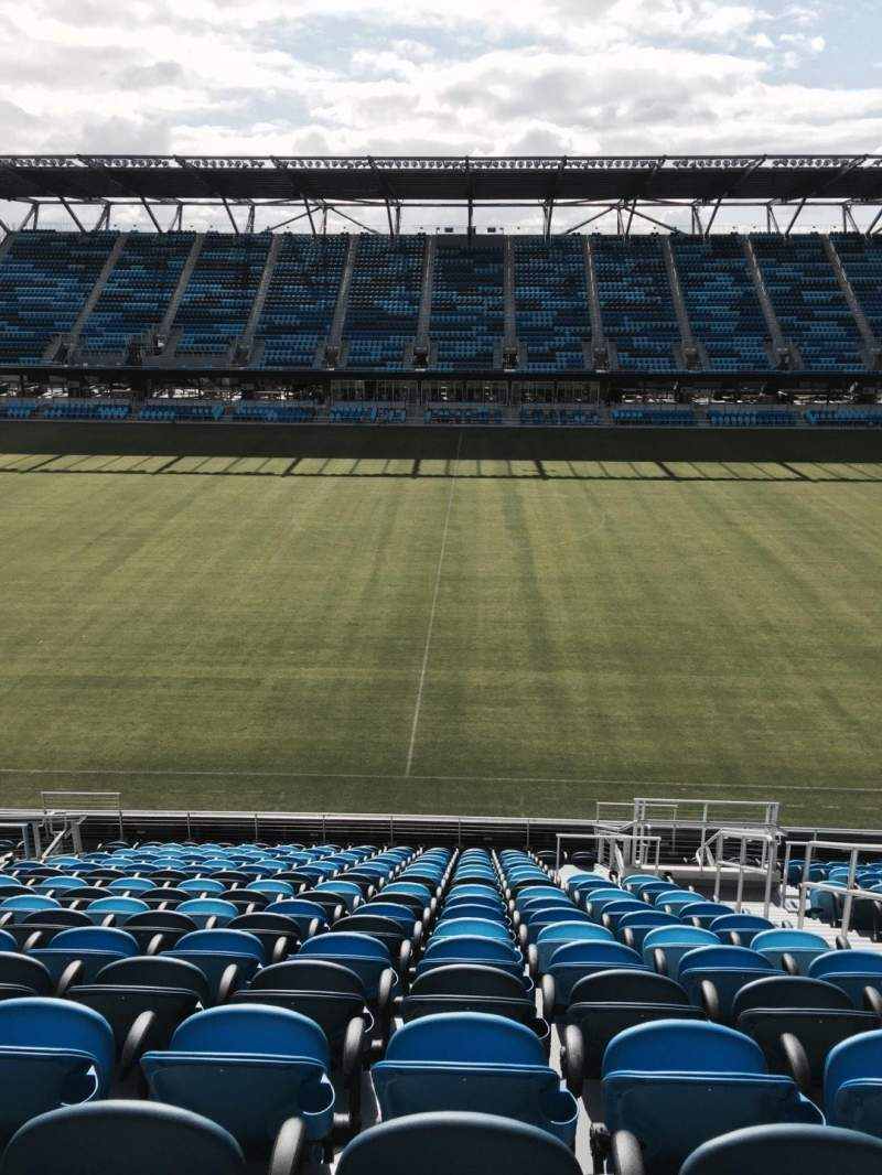 Seating view for Avaya Stadium Section 106 Row 18 Seat 4