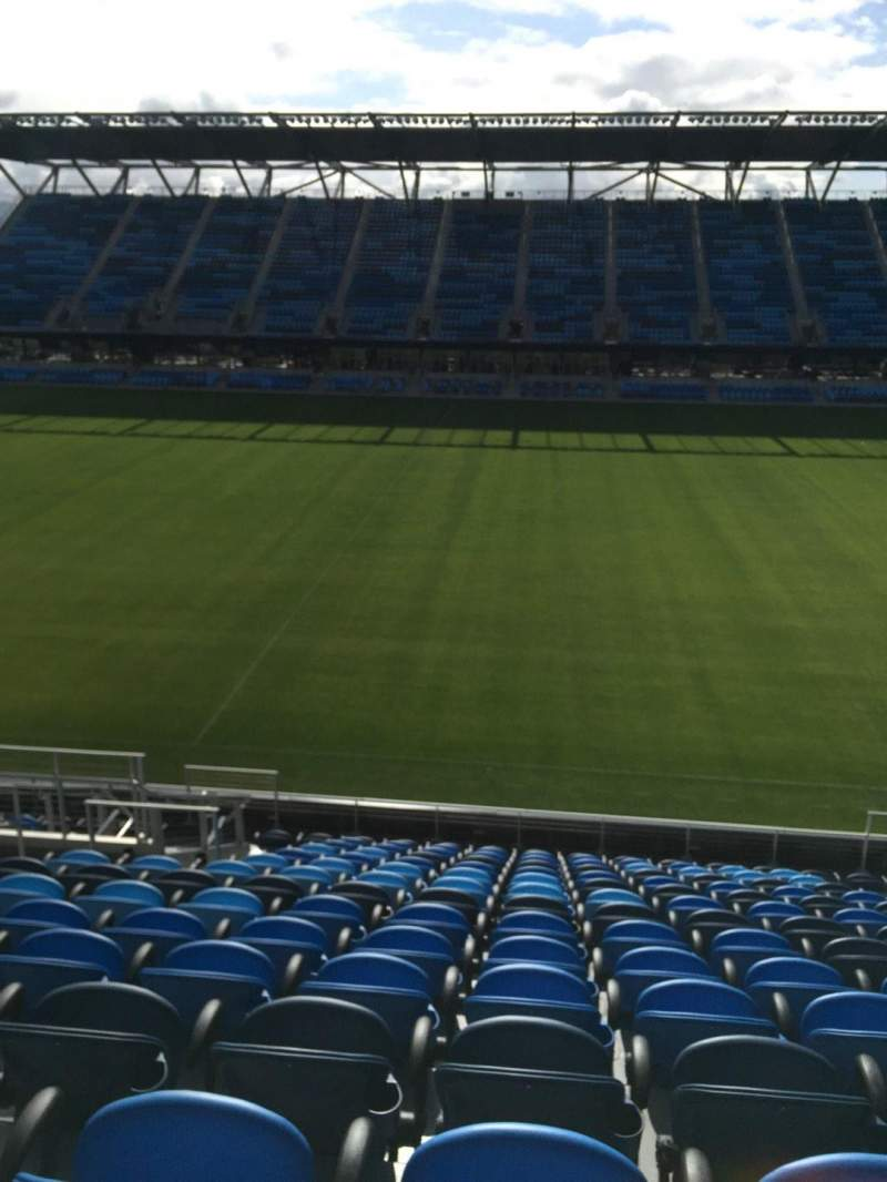 Seating view for Avaya Stadium Section 107 Row 15 Seat 8