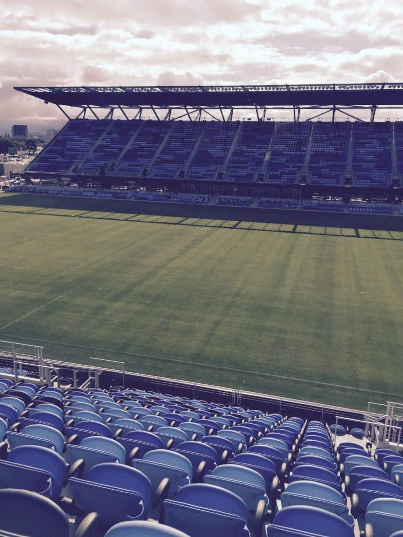 Seating view for Avaya Stadium Section 108 Row 16 Seat 3
