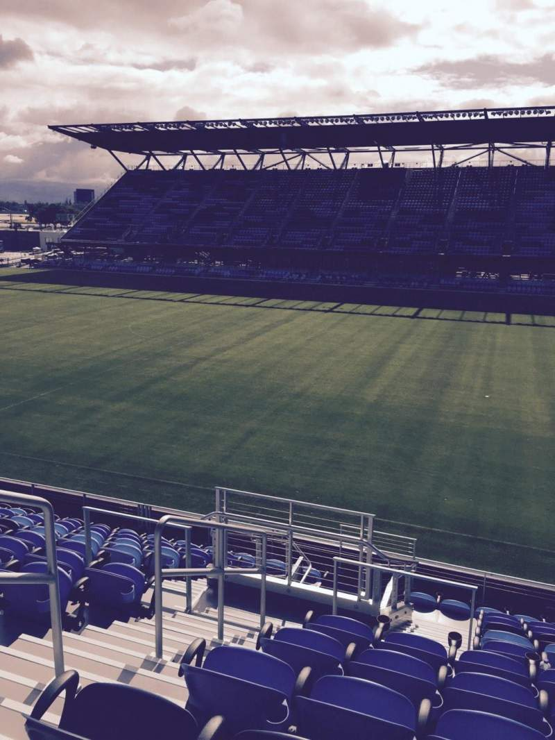 Seating view for Avaya Stadium Section 109 Row 12 Seat 14