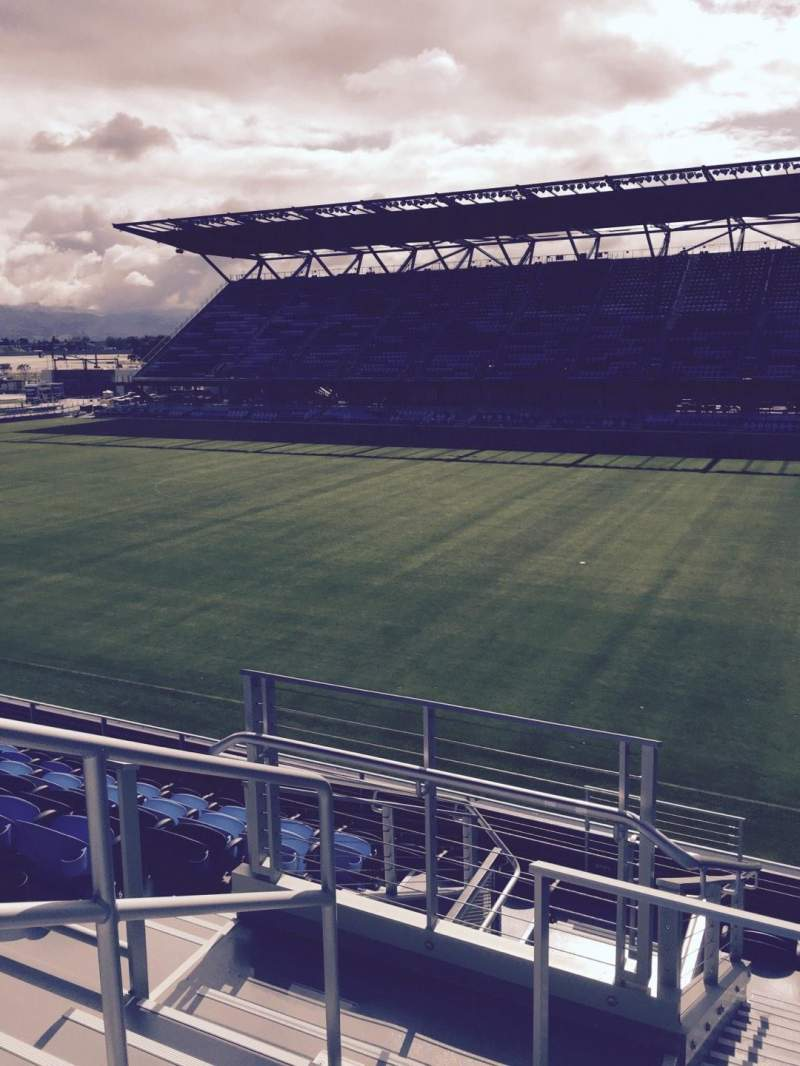 Seating view for Avaya Stadium Section 110 Row 9 Seat 15