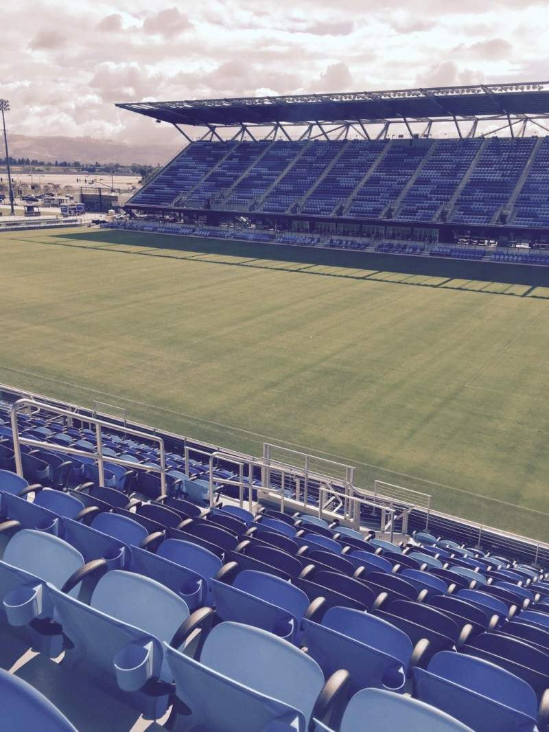 Seating view for Avaya Stadium Section 111 Row 15 Seat 9