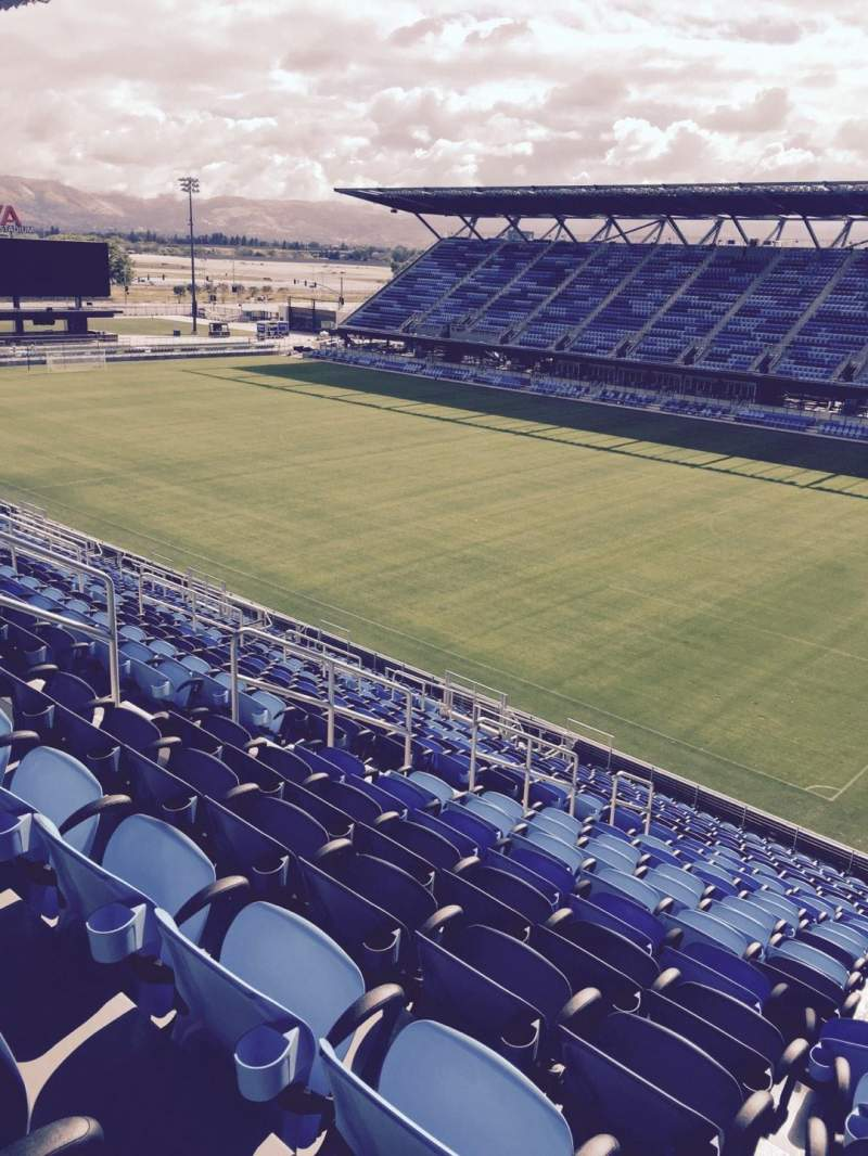 Seating view for Avaya Stadium Section 112 Row 23 Seat 10