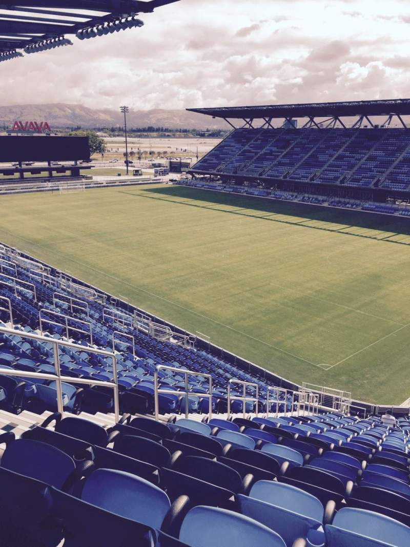 Seating view for Avaya Stadium Section 113 Row 26 Seat 44