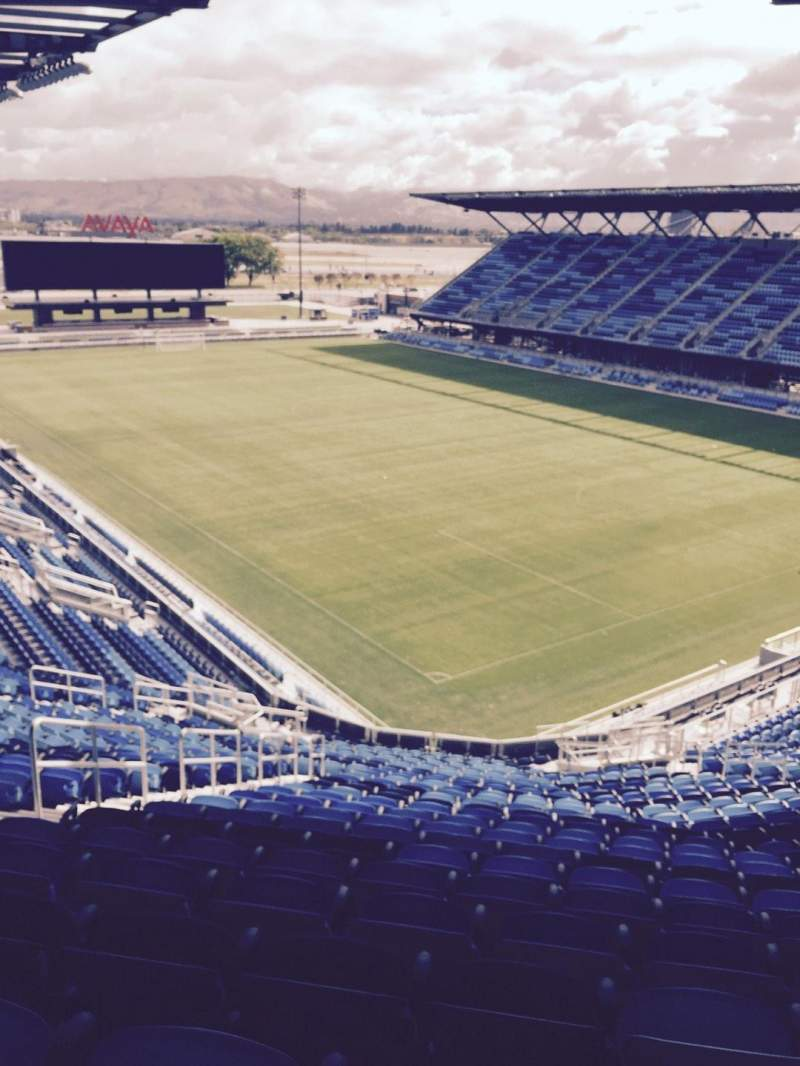Seating view for Avaya Stadium Section 113 Row 28 Seat 21