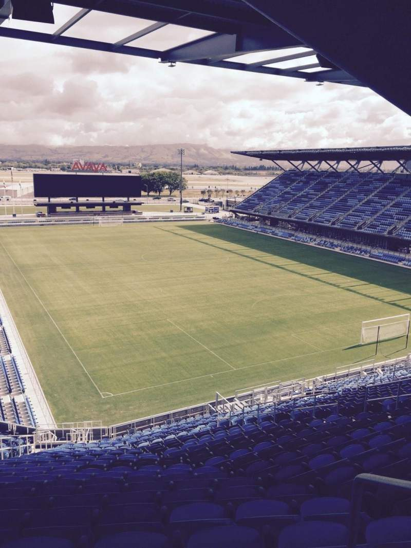 Seating view for Avaya Stadium Section 114 Row 29 Seat 31