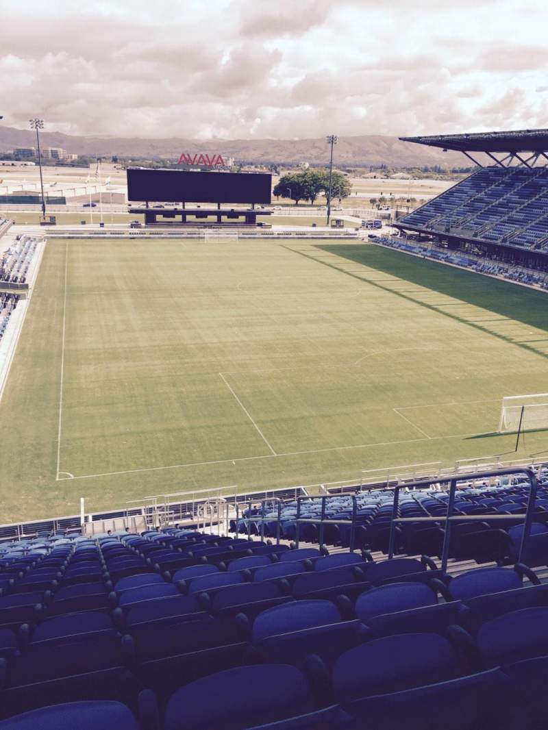 Seating view for Avaya Stadium Section 114 Row 26 Seat 5