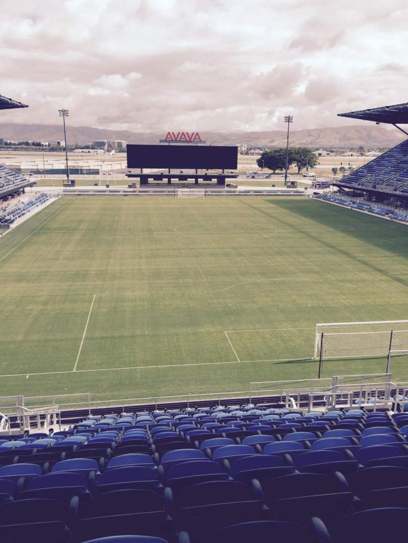 Seating view for Avaya Stadium Section 116 Row 20 Seat 11