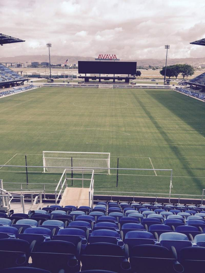 Seating view for Avaya Stadium Section 118 Row 15 Seat 12