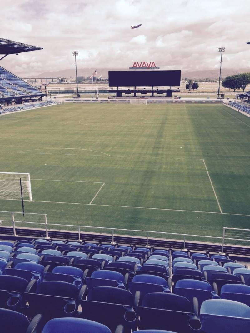 Seating view for Avaya Stadium Section 119 Row 12 Seat 6