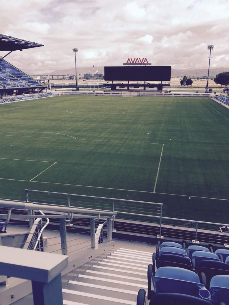 Seating view for Avaya Stadium Section 120 Row 9 Seat 14
