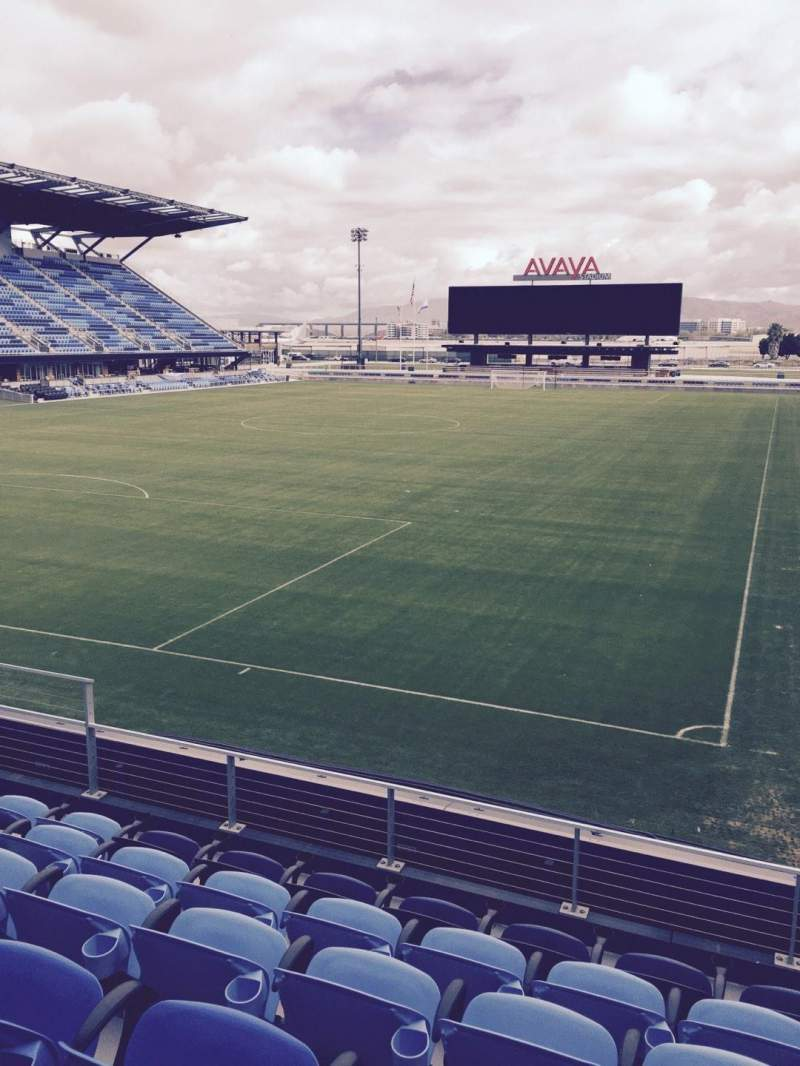 Seating view for Avaya Stadium Section 121 Row 6 Seat 12