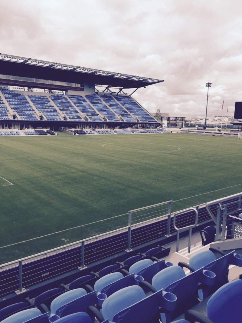 Seating view for Avaya Stadium Section 124 Row 5 Seat 8