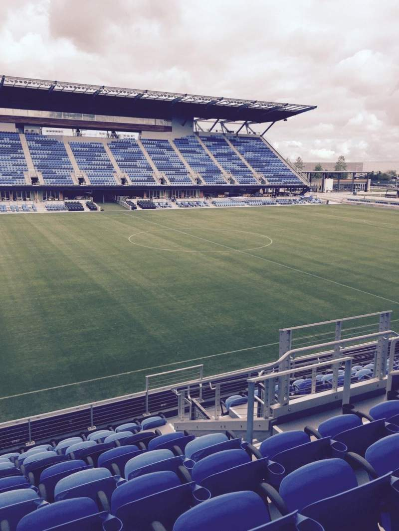 Seating view for Avaya Stadium Section 126 Row 10 Seat 7