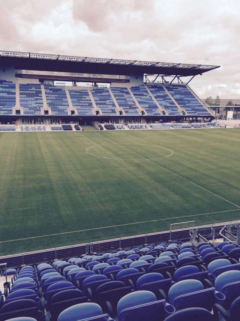 Seating view for Avaya Stadium Section 127 Row 13 Seat 12
