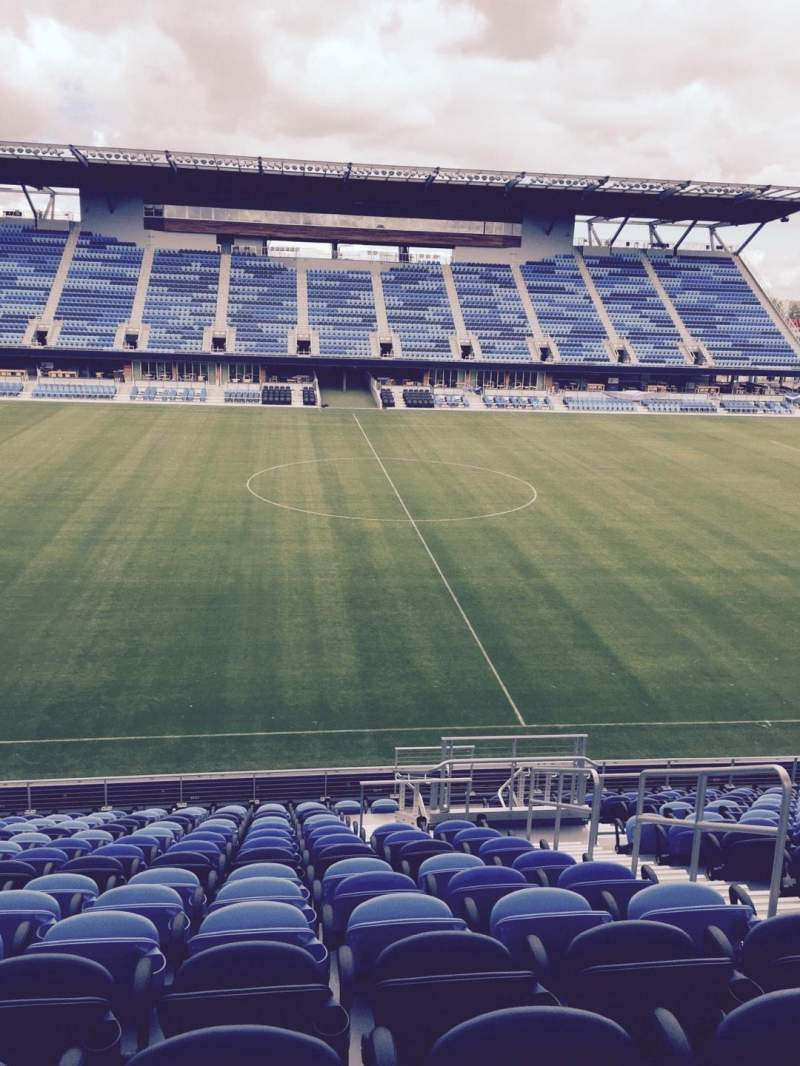 Seating view for Avaya Stadium Section 128 Row 16 Seat 4