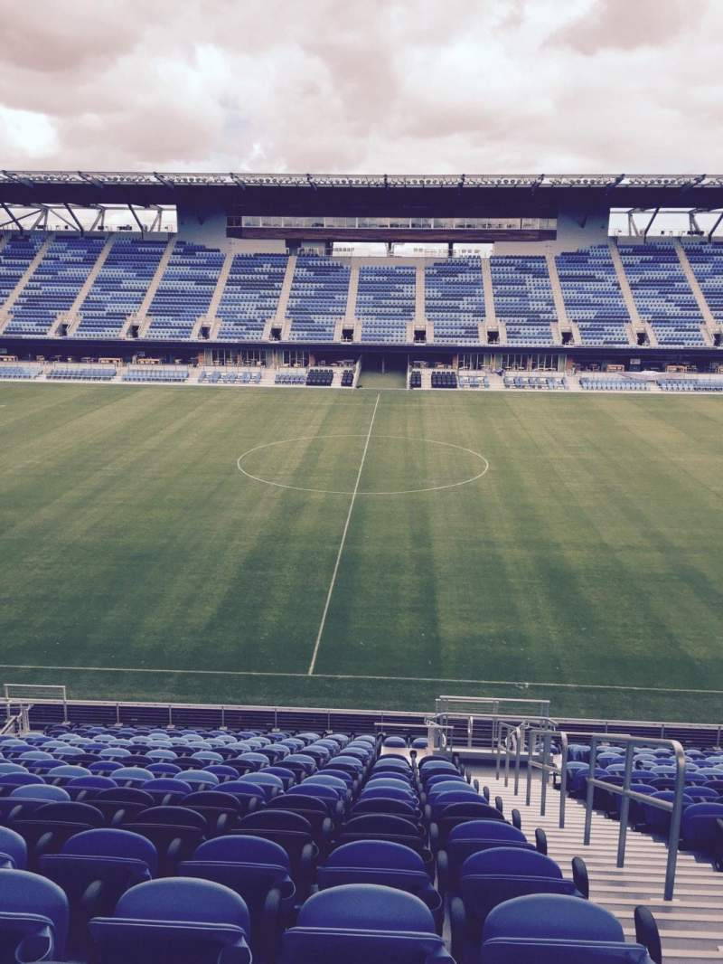 Seating view for Avaya Stadium Section 129 Row 19 Seat 2
