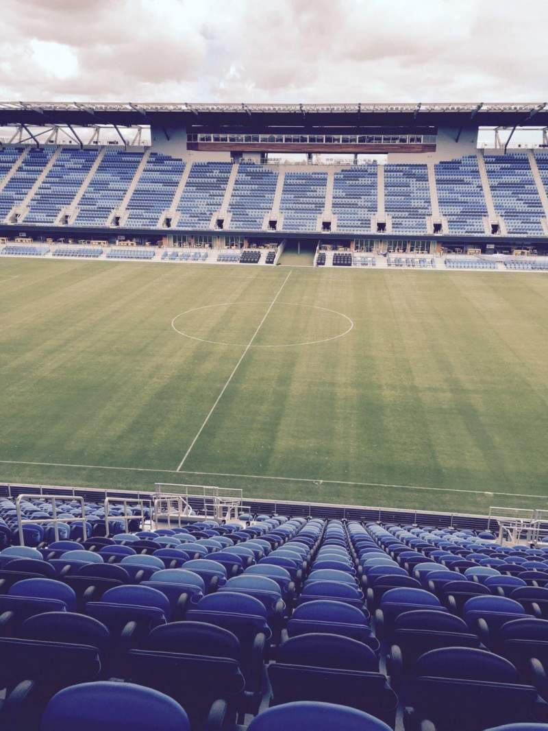 Seating view for Avaya Stadium Section 130 Row 22 Seat 9