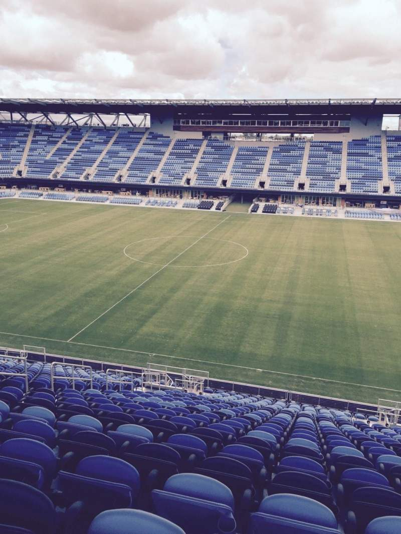 Seating view for Avaya Stadium Section 131 Row 24 Seat 6