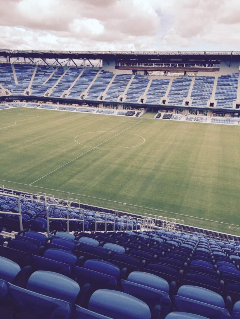 Seating view for Avaya Stadium Section 132 Row 126 Seat 11
