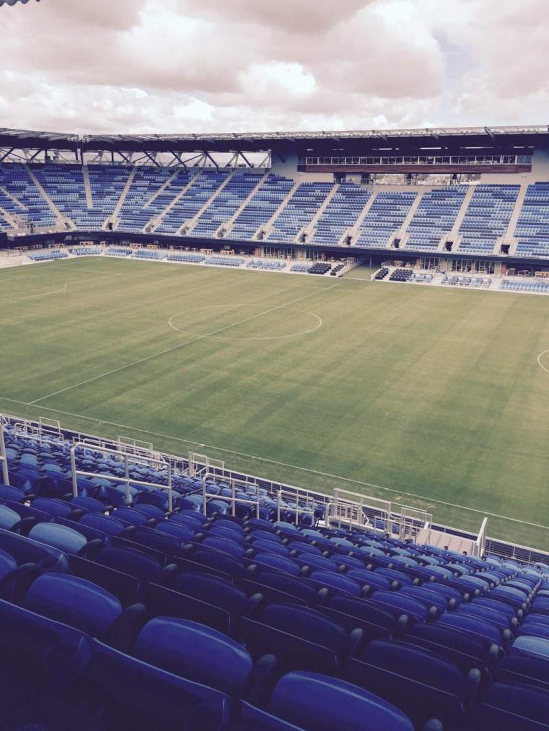 Seating view for Avaya Stadium Section 133 Row 25 Seat 8