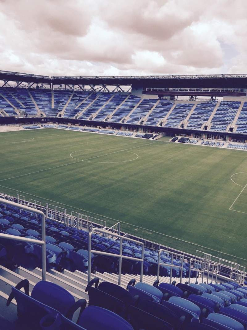 Seating view for Avaya Stadium Section 134 Row 21 Seat 21