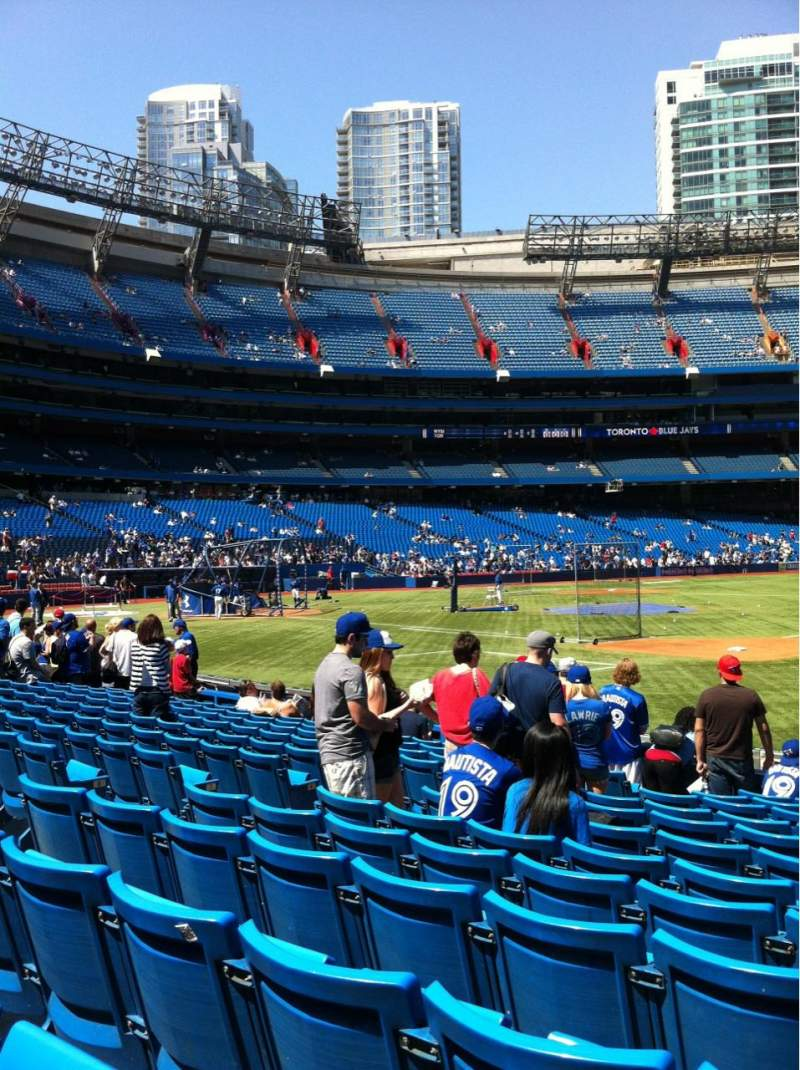 Seating view for Rogers Centre Section 115 Row 12 Seat 9