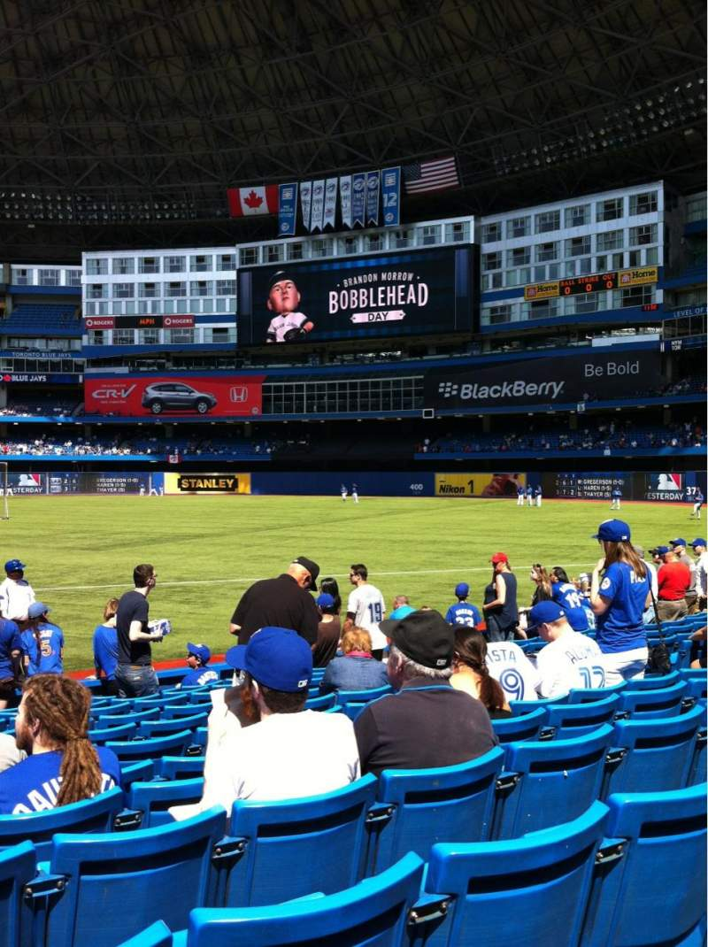 Seating view for Rogers Centre Section 115R Row 12 Seat 9