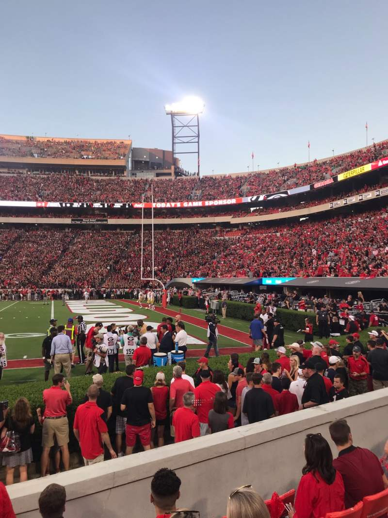 Seating view for Sanford Stadium Section 127 Row 6